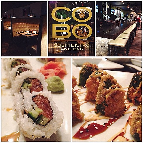 Tried a new here in last night called, . We needed a hip place like this in town (I sound old using hip). The atmosphere and service were top notch. My was also good, they had interesting flavor combinations! I'll be back, especially for their half-priced @ COBO Sushi Bistro and Bar