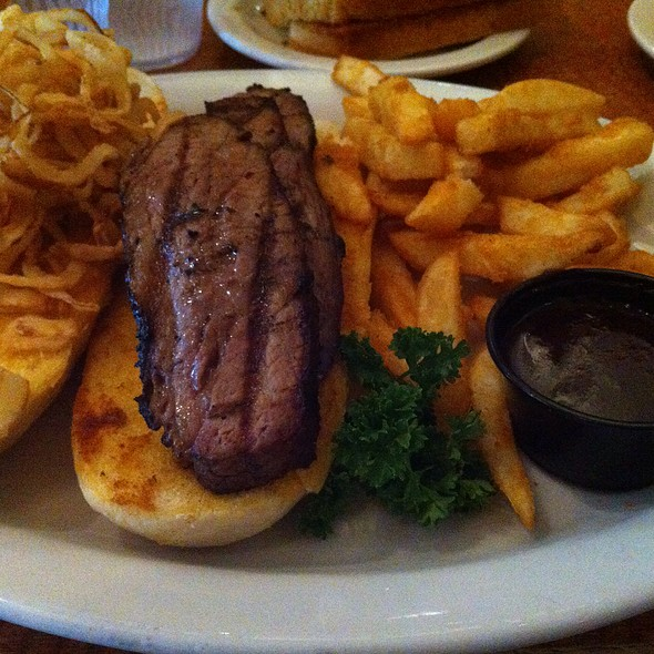 Tri Tip Sanwich With Seasoned Fries @ Sizzler