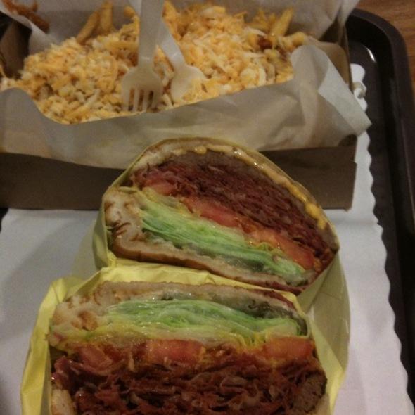 Pastrami Burger @ Tops Burger