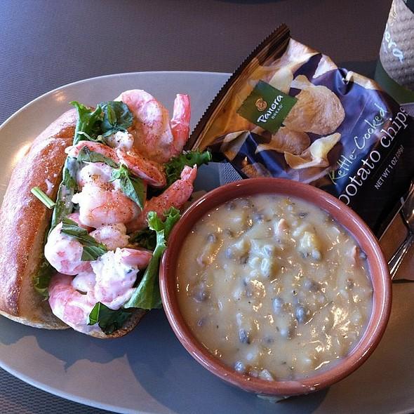 Shrimp Roll & Cream of Chicken and Wild Rice. , , , , @ Panera Bread