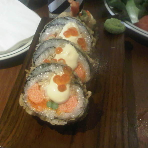 Salmon tempura sushi @ Vanilla Garden