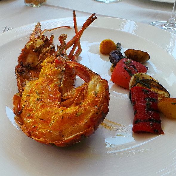 Spiny Lobster with Grilled Vegetables @ Es Raco d'es Teix