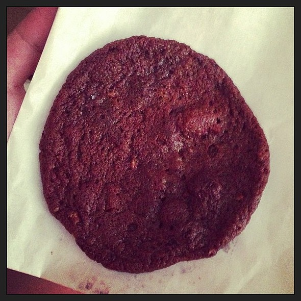 Double chocolate sea salt pecan . Don't let looks fool you. This cookie is decadently good. @ Handsome Biscuit