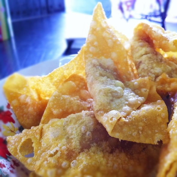 Fried dumplings @ Je Jie Yentafo | เจ๊เจี่ยเย็นตาโฟ