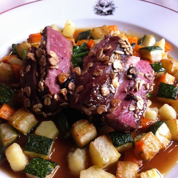Duck With Roasted Vegetables In Port Jus @ Brasserie de l'Ommegang, By La Maison du Cygne