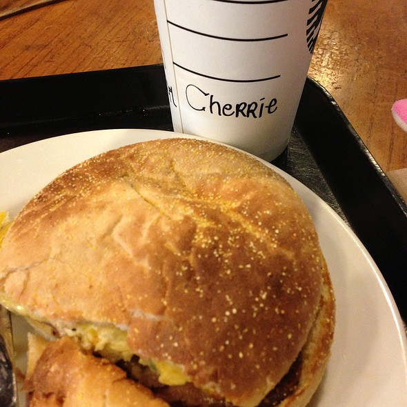 Spam Black Pepper Egg And Cheddar Cheese @ Starbucks Coffee