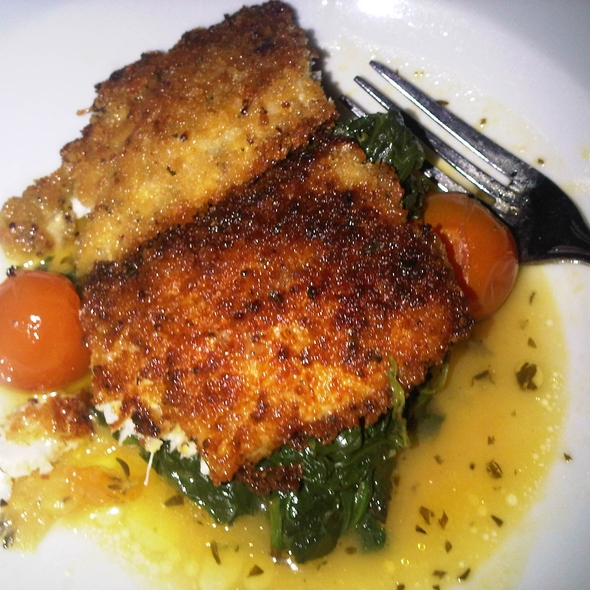 Mustard Crusted Rainbow Trout @ Mermaid Inn