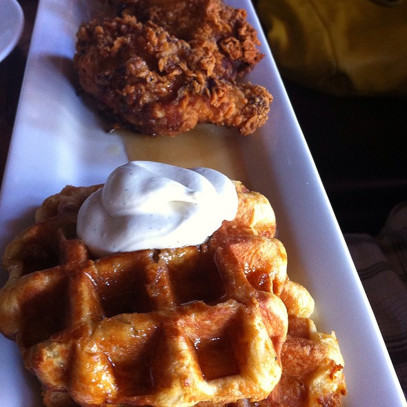 Waffles With Crispy Fried Chicken - Supermarine, Vancouver, BC