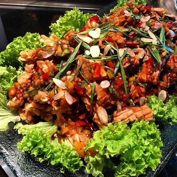 Its Seafood Night @theregencyq8 Italian style calamari salad at the Silk Road Restaurant with @fnbboy @ The Regency Kuwait