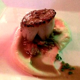 Scallop With Pulled Pig Tail