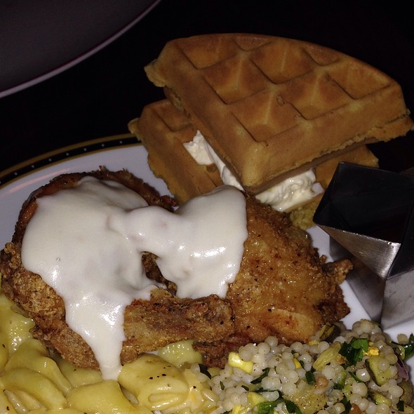 Southern Pan-Fried Chicken and Waffles - Founding Farmers - DC, Washington, DC