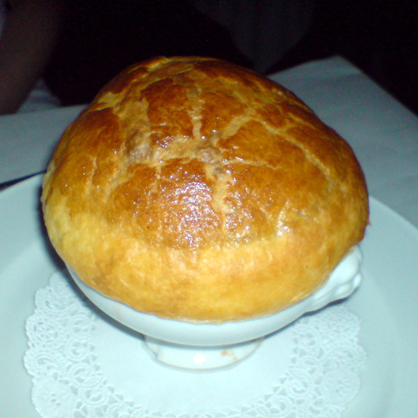 Puff Pastry Tomato Soup @ Bistro Jeanty