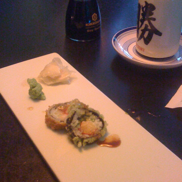 Crunchy Roll W/ Shrimp Sushi @ Sweet Sushi