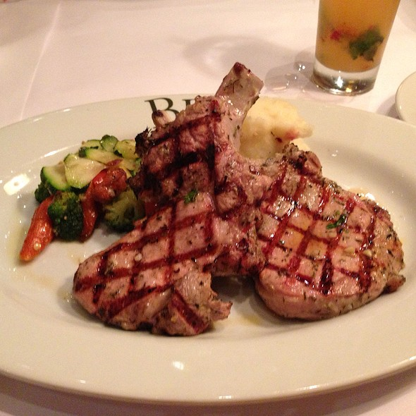 Grilled Porkchops Mashed Potatoes Roasted Vegtables - BRIO Tuscan Grille - Atlanta - Buckhead, Atlanta, GA