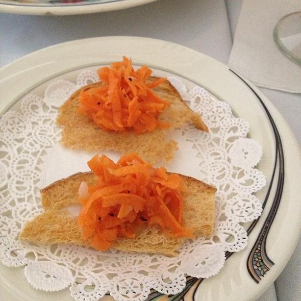 Carrot Salad On Crouton