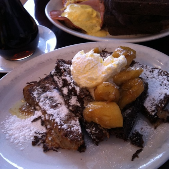 Chocolate Chip Banana Bread French Toast @ Jethro's Fine Grub