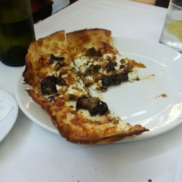 Goat Cheese Pizza With Balsamic Cippolini Onion And Pistachio