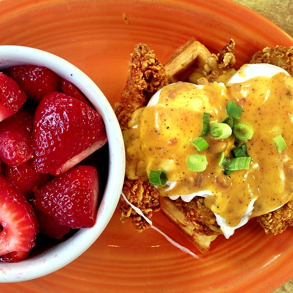 Chicken & Waffles Benedict - Datz, Tampa, FL