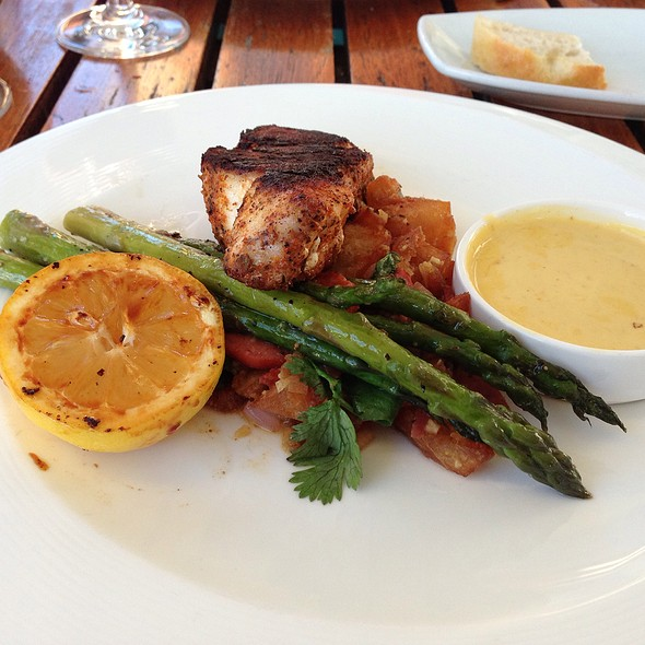 Local Black Grouper With Mango Rum Sauce, With Yucca Hash, And Braised Asparagus - Shor Seafood at the Hyatt Resort & Spa, Key West, FL