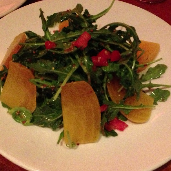 Arugula And Sliced Beet Salad
