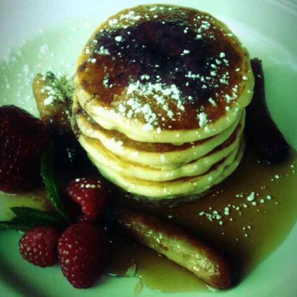 SIlver Dollar Pancakes with Blueberry Butter - 44 1/2 Hell's Kitchen, New York, NY