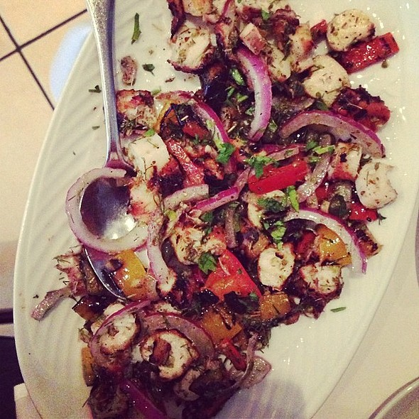 Best octopus salad in the city at Ella-grill @ Élla-Grill