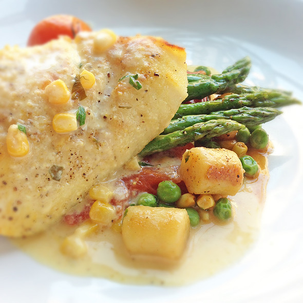Pan Seared Halibut @ The Flying Pig
