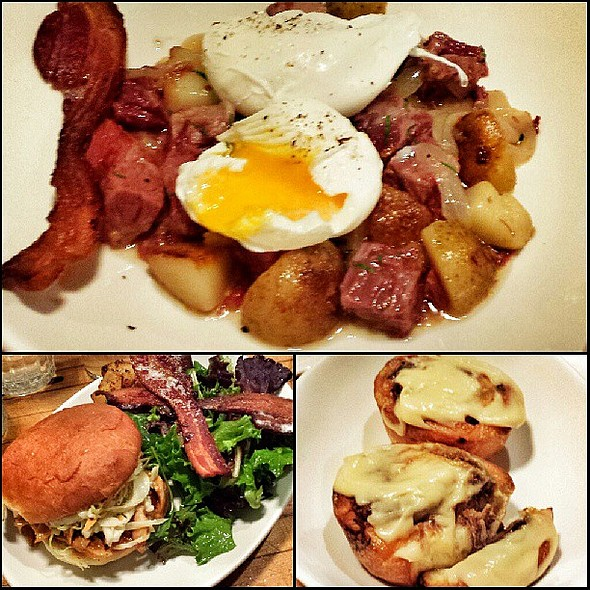 Good eats w/ grandma & grandpa klein! @ Northern Spy Food Co.
