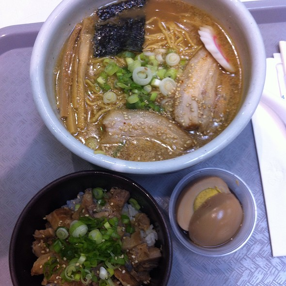 Soy Sauce Ramen With Boiled Egg @ Mitsuwa Marketplace