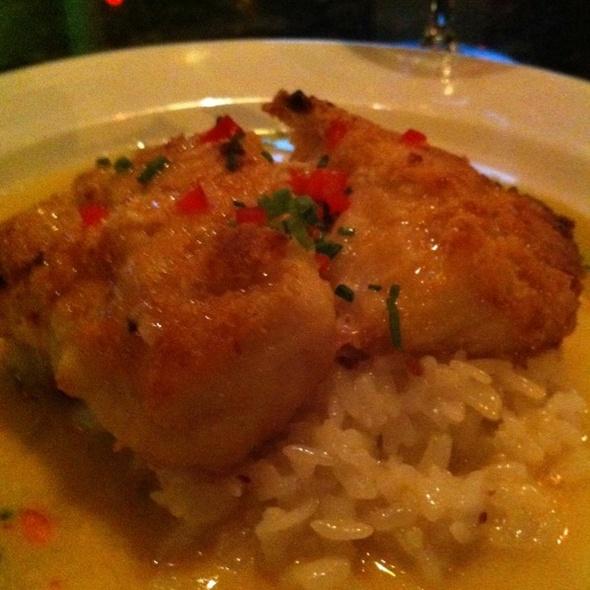 Macadamia Encrusted Sea Bass - Lucas Park Grille, St. Louis, MO
