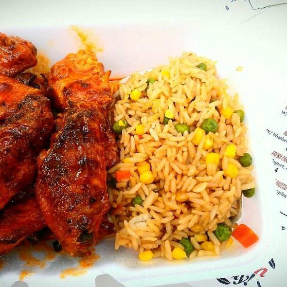 Buffalo Wings And Fried Rice From Wing Nit Food Truck @ Ty's House