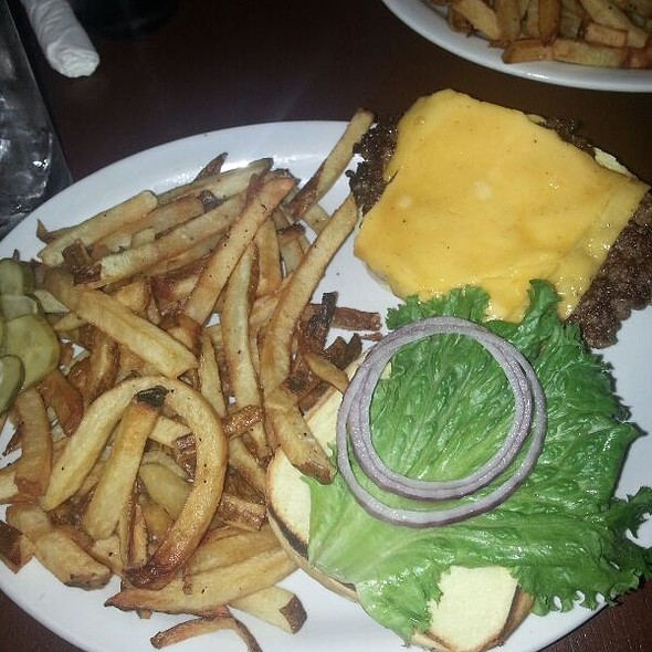Classic with Cheese & Fries @ Green Truck Neighborhood Pub