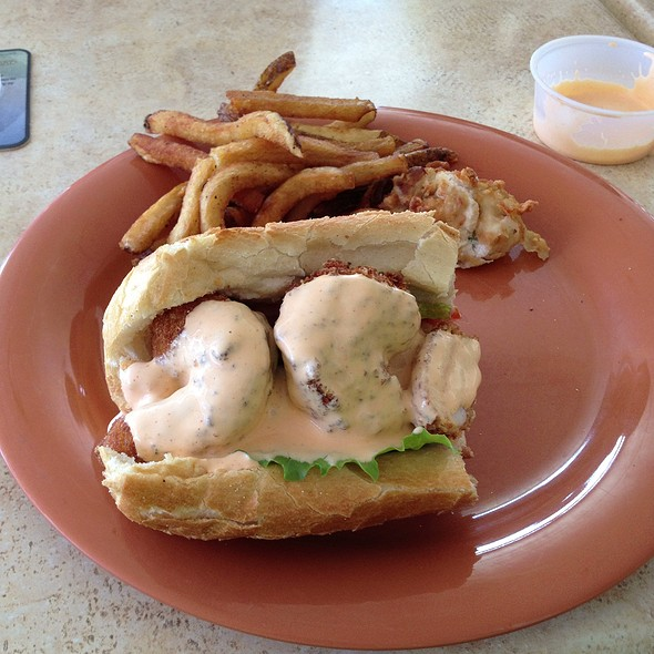 Shrimp and Oyster Po Boy @ Yacht Basin Eatery