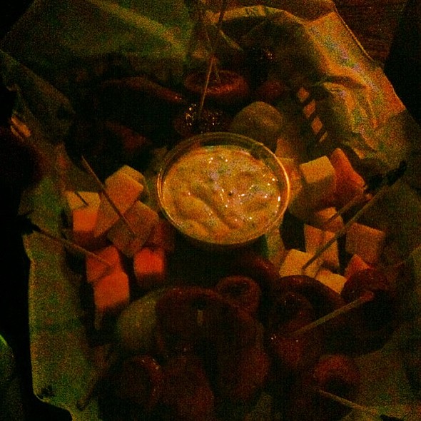 Kielbasa Platter. With @cruzerkaye & @vickaxo , , , , @ The Rock on Third