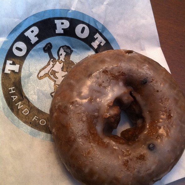 Blueberry Donut @ Top Pots Doughnuts