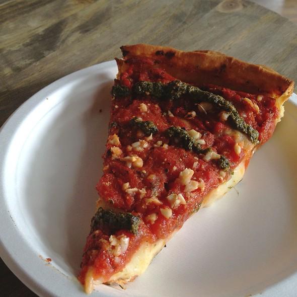 Pesto Garlic Pizza @ Berkeley Pizza
