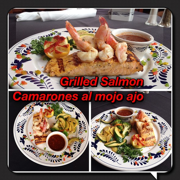 Grilled Salmon and Shrimp with Sauteed Vegetables - Las Alamedas, Katy, TX