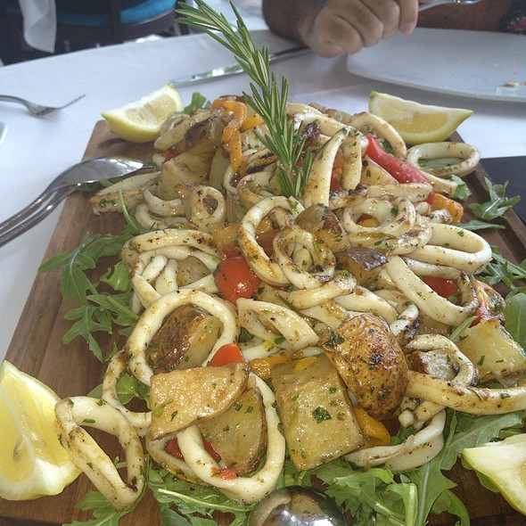 calamari. @ capriccio on the river