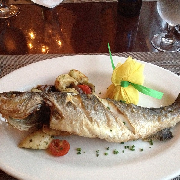 Pan seared Bronzini