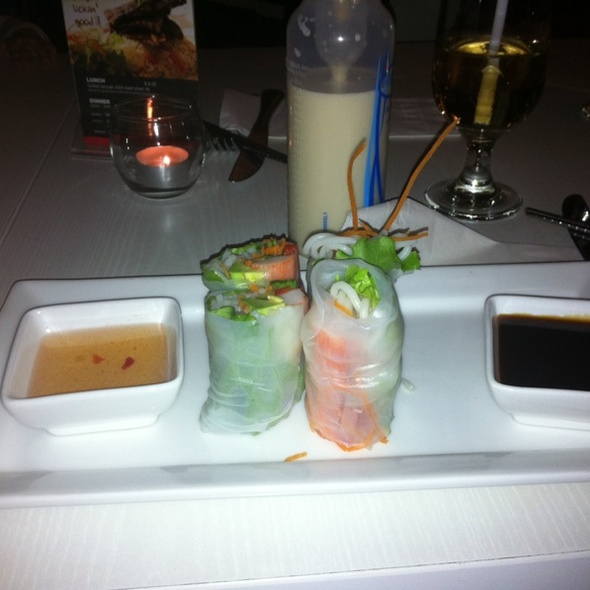 Crab & Avocado Fresh Rolls @ Lime Asian Cuisine