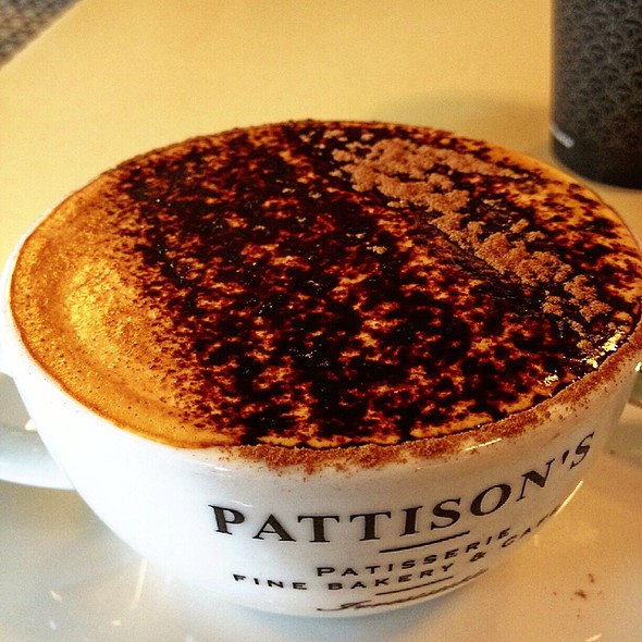 Cappuccino @ Pattison's Patisserie Fine Bakery & Cafe