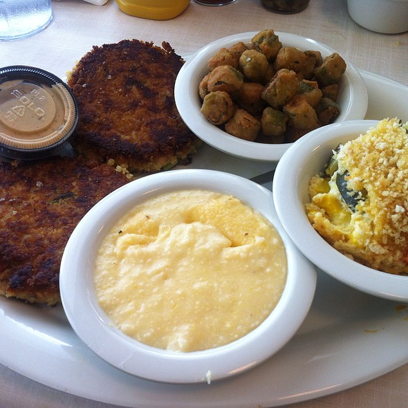 Dish Salmon Croquettes: Salmon Croquettes, Fried Okra