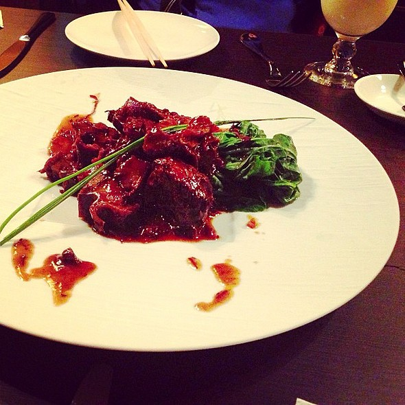 Braised short ribs with oolong tea leaves  @ Oliversan Contemporary Asian Cuisine