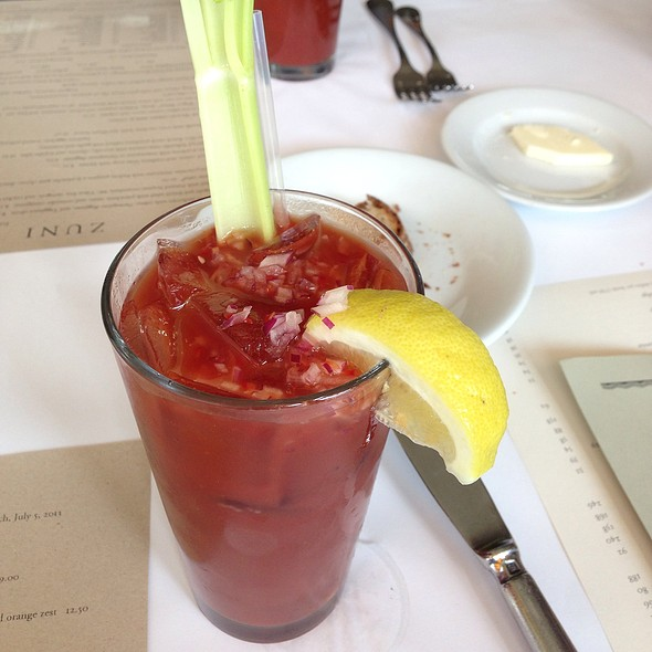 Balsamic Bloody Mary at Zuni Cafe