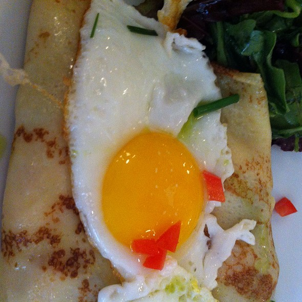 Crepe W/Ham & Comte & Egg - Cafe d'Alsace, New York, NY
