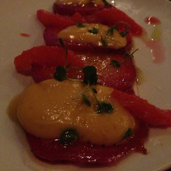 Smoked Beets With Ricotta Cream And Oranges