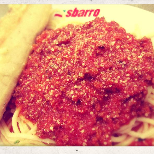 Spaghetti Meatsauce @ Sbarro