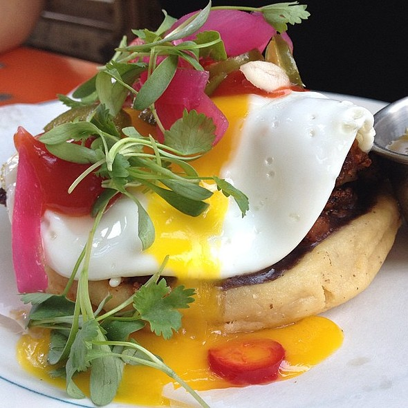 Choruzo Sope and a horchata milk shake mmmm @ Antique Taco