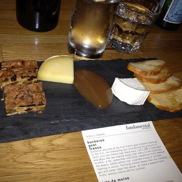 Cheese Plate - fundamental LA, Los Angeles, CA