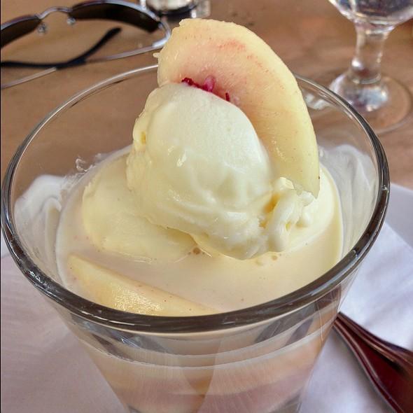 Peaches With Ginger Ice Cream - Locanda del Lago, Santa Monica, CA